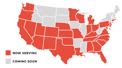 Coverage map.